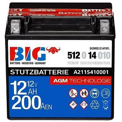 Stützbatterie A2115410001 Versorgungsbatterie BIG AUX Premium AGM 12V 12Ah