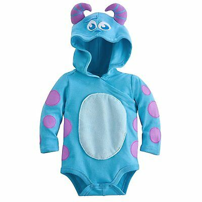 Disney Store Suelly Costume Bodysuit Hooded Baby Halloween Monster's Inc. Sully (Sully Baby Halloween Costume)