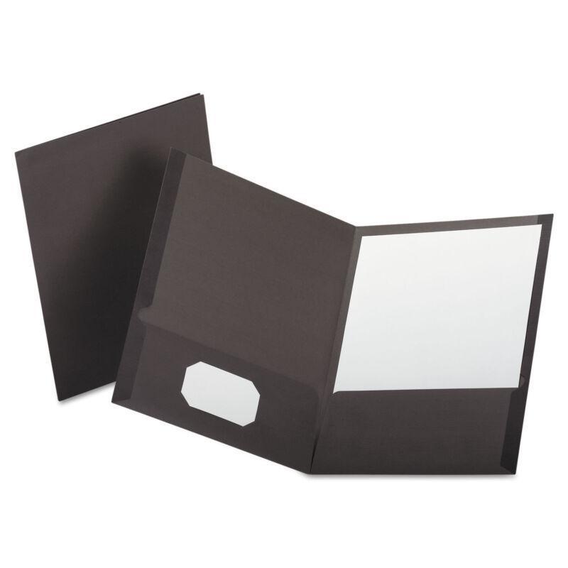 Oxford Linen Finish Twin Pocket Folders Letter Gray 25/Box 53405