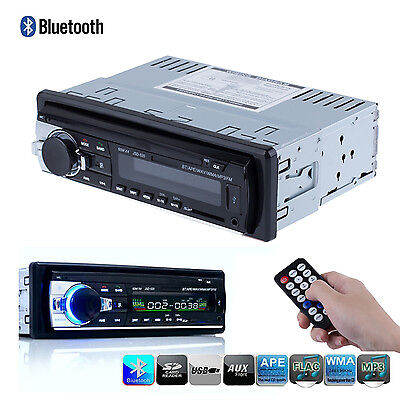 Bluetooth Car Stereo Audio 1 DIN In-Dash FM Aux Input Receiver SD USB MP3 Radio on Rummage