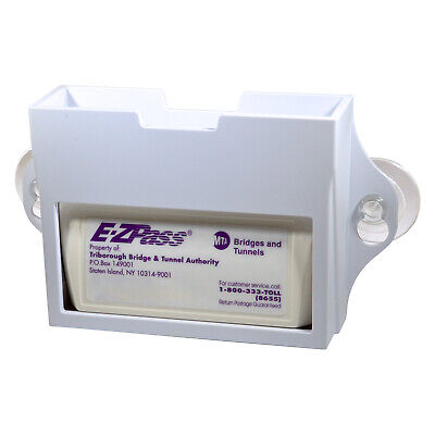 EZ Pass Toll Tag Holder, Fits New & Old Transponder, i-Pass, i-Zoom, White