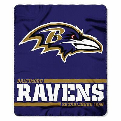 New Northwest NFL Baltimore Ravens Soft Fleece Throw Blanket