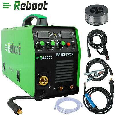 Mig Welder 170a Gasgasless Dc 220v Flux Core Mag Mig Stick 2in1 Welding Machine
