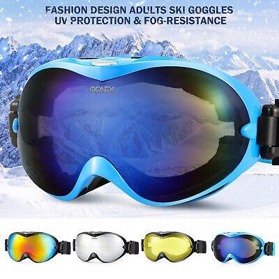 Women Men Ski Goggles Double Lens Anti-fog UV400 Snow Glasses Ski Snowboard