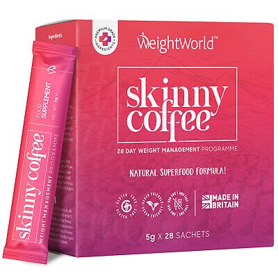 Skinny Coffee 28 Sachets with Siberian Ginseng Detox & Weight Management Program