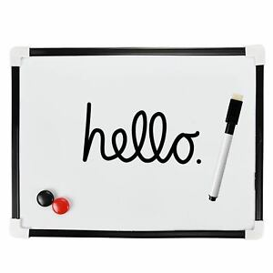 A4 DRY WIPE BOARD Magnetic Mini Office Whiteboard Notice Memo White Pen & Eraser
