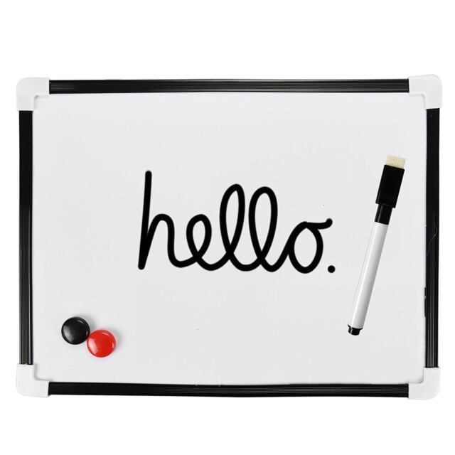 A Dry Wipe Magnetic Whiteboard Mini Office Notice Memo Pen  Eraser
