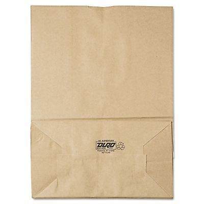 Grocery Paper Bags #75 Brown Kraft 400 ct. Duro Supertuff 1/6 Square Bottom