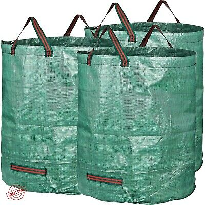 Reusable Waste Bags Yard Lawn Leaf Outdoor Container Gardening Heavy Duty NEW
