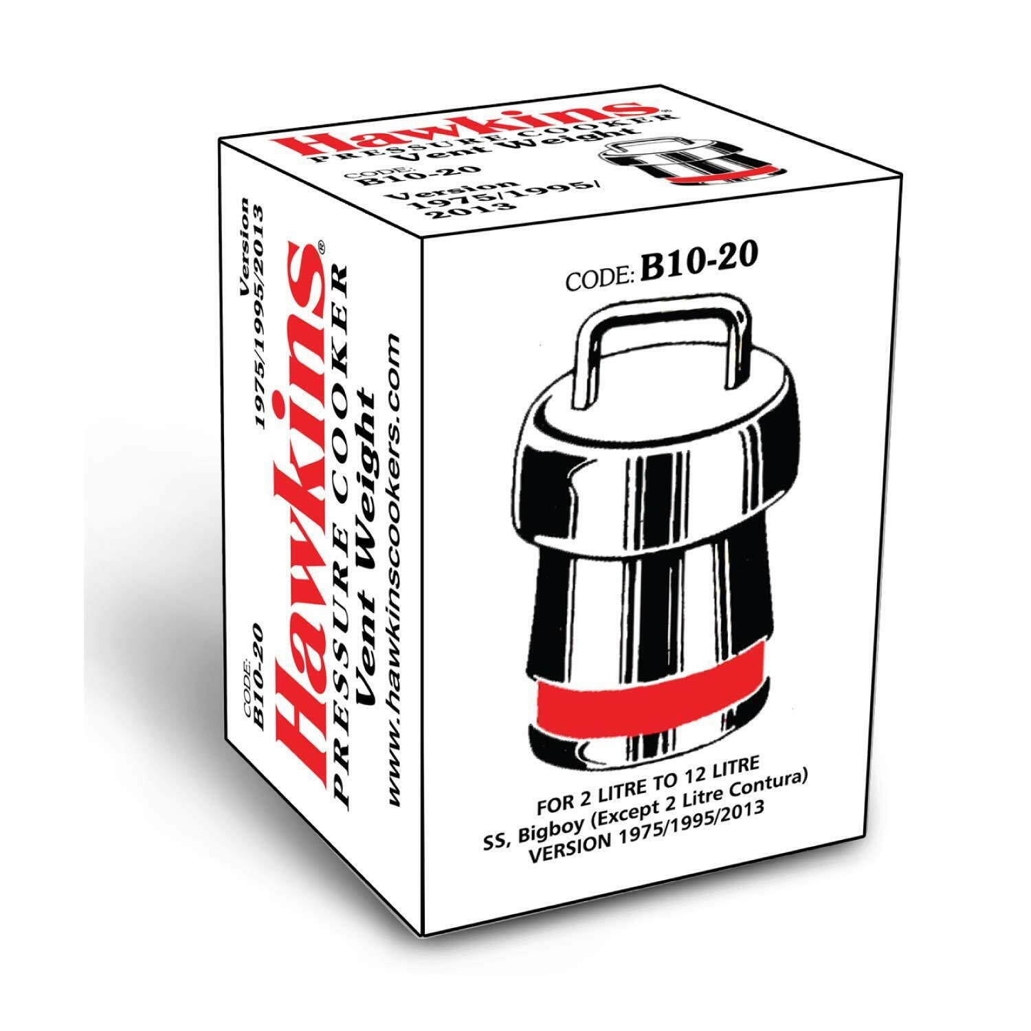 Hawkins B10-20 Brass Vent Weight Whistle for Pressure Cooker