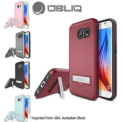 Genuine Obliq Kickstand Thin Bumper Case Cover Samsung Galaxy
