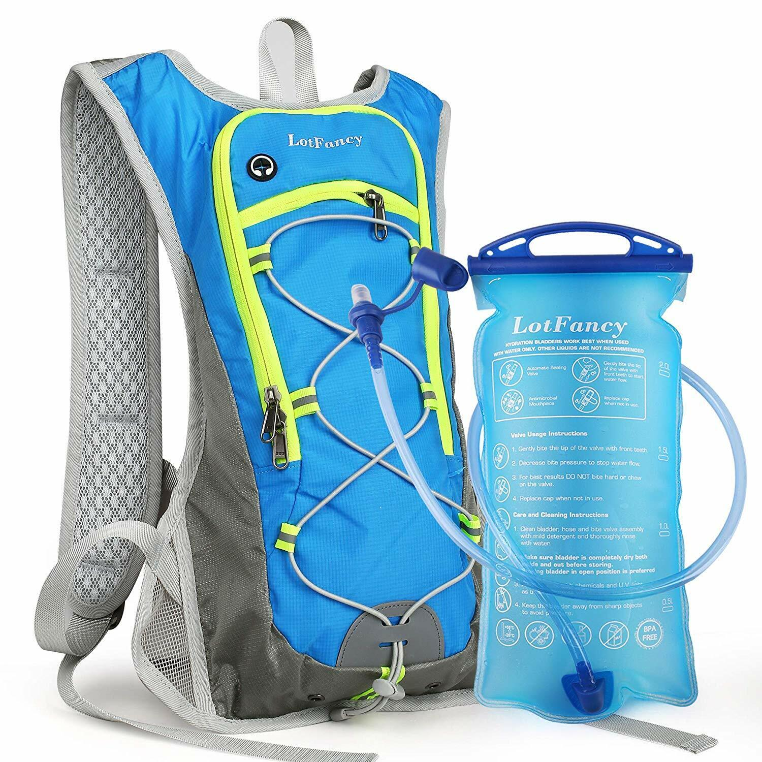 Hydration Pack Water Backpack with 2L Water Bladder for Runn