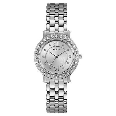 Guess Women's Blush Stainless Steel & Crystal Silver Tone Quartz Watch W1062L1