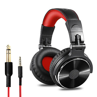 OneOdio Adapter-free Closed Back Over-Ear Headphone Studio Pro 10-Red