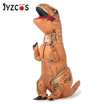 Inflatable Dinosaur Costume T Rex Fancy Dress Kid Adult Halloween Blow Up - Dinosaur Costumes