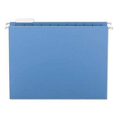 Smead Hanging File Folders 15 Tab 11 Point Stock Letter Blue 25box 64060
