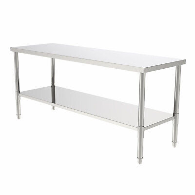 72 Stainless Steel Galvanized Work Table Without Back Board