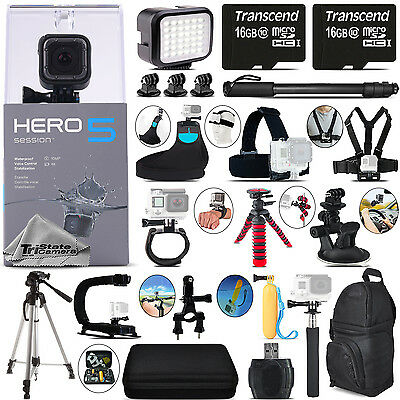 GoPro Hero 5 Session 4K Ultra HD, 10MP, Wi-Fi Action Camera + 32GB - Loaded Kit