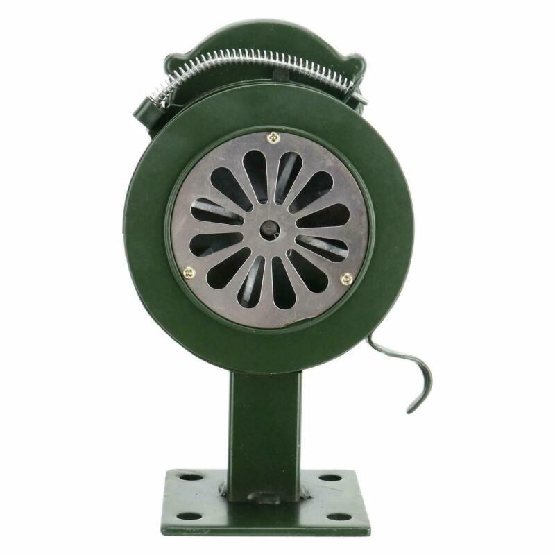 Handheld Lound Hand Crank Manual Operated Air Raid Alarm Siren 110DB Base Mount