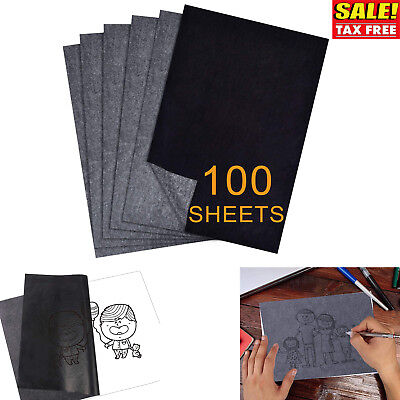 Carbon Transfer Graphite Paper 100 Sheets Black Tracing Drawing Canvas Art Wood