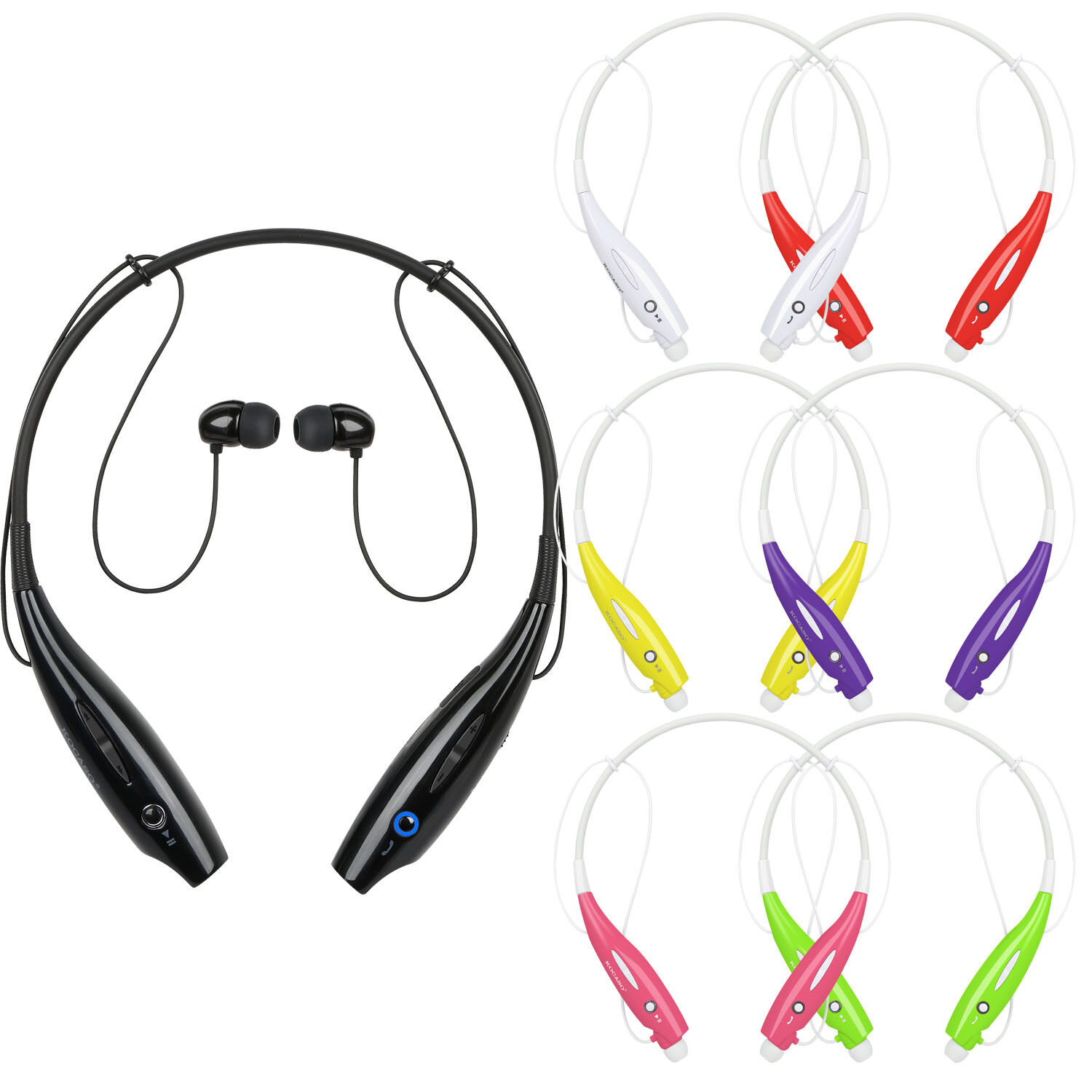 Running Sports Bluetooth Headphones Headset Neckband Stereo Earphone Universal