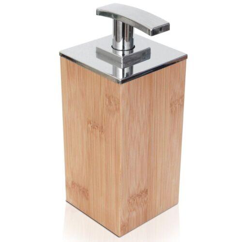 bamboo wooden soap lotion liquid pump countertop