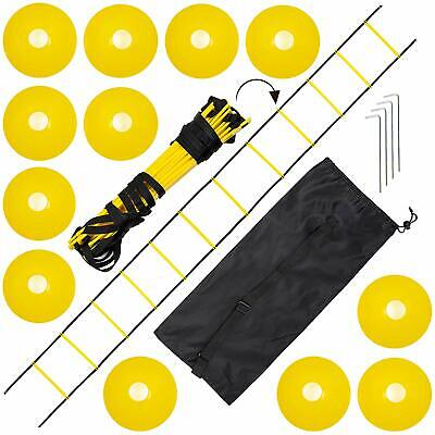 Agility Speed Fitness Training Ladder Cone Set Sports Practice 6M Cones Stakes