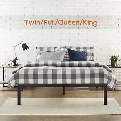 Twin/Full/Queen/King Size Metal Platform Bed Frame Wood Slat Mattress Foundation