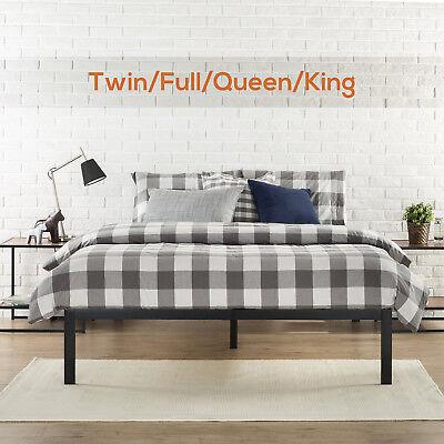 Twin/Full/Queen/King Size Metal Platform Bed Frame Wood Slat Mattress Foundation - King Size Twin Size Mattress