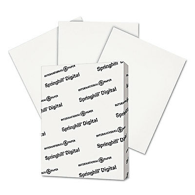 - Springhill Digital Index White Card Stock 90 lb 8 1/2 x 11 250 Sheets/Pack