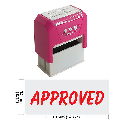 Approved Self Inking Rubber Stamp - Jyp 4911r-17 Red Ink