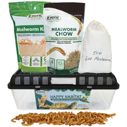 Mealworm Breeder Kit (Basic) - Breed Live Feeder Worms for Small Animals