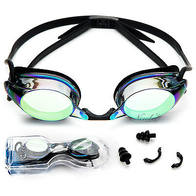 Adult Swim Goggles Anti Fog Silicone Adjustable Strap Nose Piece with (Goggles With Nose Piece)