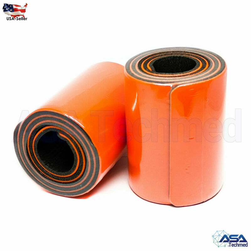 "2 Roll 36 "" Padded Aluminum Universal Splint Waterproof Orange 4 1/4 X 36"""