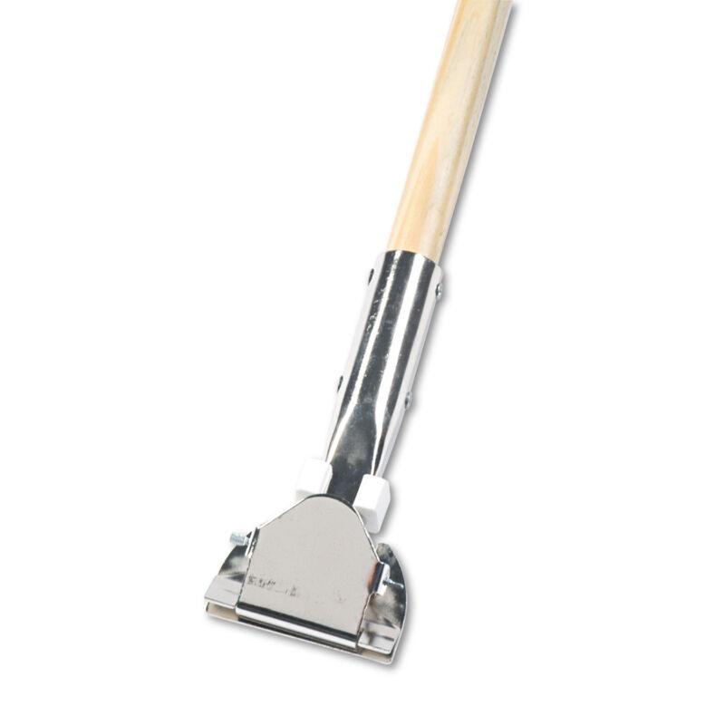 "Boardwalk Clip-On Dust Mop Handle Lacquered Wood Swivel Head 1"" Dia. x 60in Long"