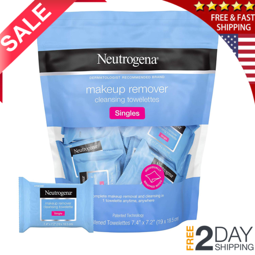 Makeup Remover Cleansing Towelette Singles Face Wipes Indivi