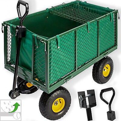 Kesser® Bollerwagen 550kg Transportwagen Gartenwagen Gerätewagen Handwagen NEU