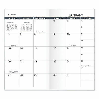 At-a-glance Pocket Size Monthly Planner Refill 6 18 X 3 12 White 2020-2021