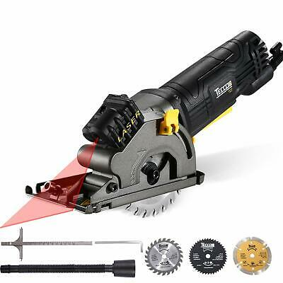 "- Circular Saw, TECCPO 3-1/3"" 3500RPM Compact Circular Saw with Laser Guide, 3 Saw"