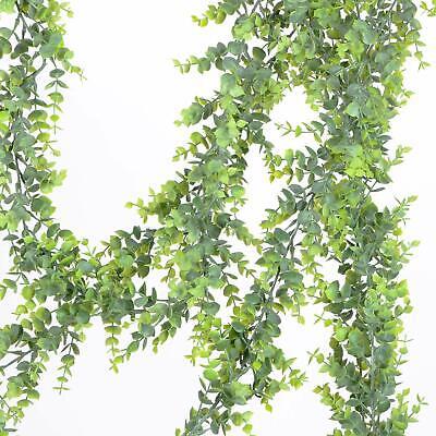 Artificial Vines Faux Eucalyptus Garland 2 Pack Fake Greenery Wedding Backdrop (Artificial Eucalyptus Garland)