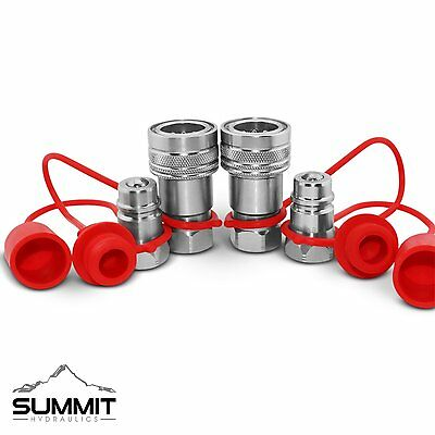 12 Ag Hydraulic Quick Connect Couplers Couplings Ball Pioneer Style 2 Sets