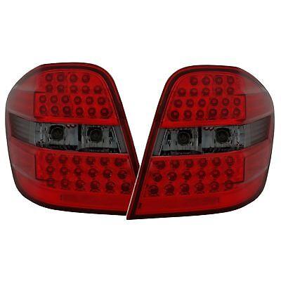 2 Rückleuchten LED Mercedes ML W164 7/2005 A 7/2008 Schwarz & Rot Kristall