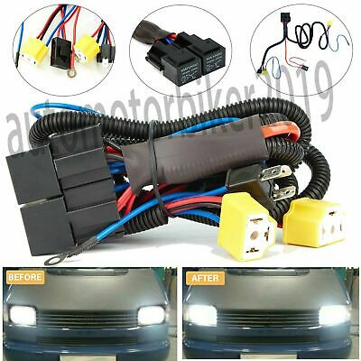 Universial Uprated Headlight Wiring Harness Loom Upgrade Headlights