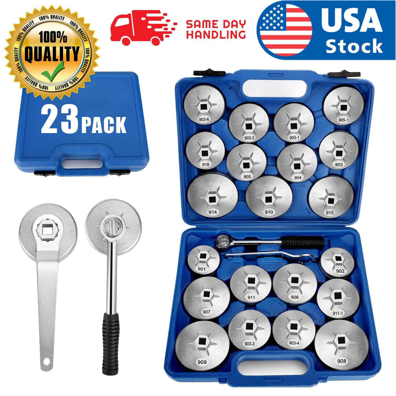 US 23Pcs Oil Filter Removal Cap Wrench Garage Socket Set Aluminum Alloy Tool Kit Car & Truck Parts