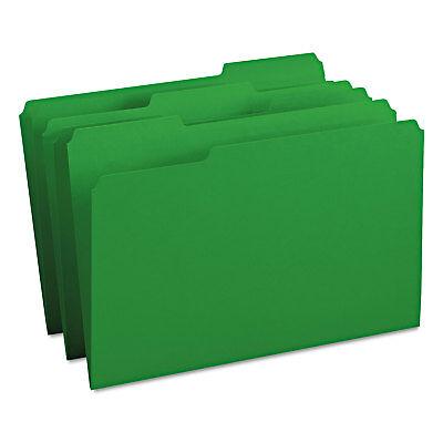 Smead File Folders 13 Cut Top Tab Legal Green 100box 17143