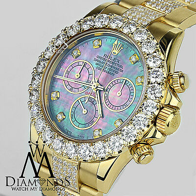 Rolex Daytona 40mm 16528 18K Yellow Gold custom Diamond Dial & Oyster Bracelet
