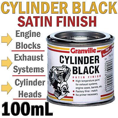 Granville 0246 Cylinder Black Satin High Temp Engine Block & Cylinder Head Paint
