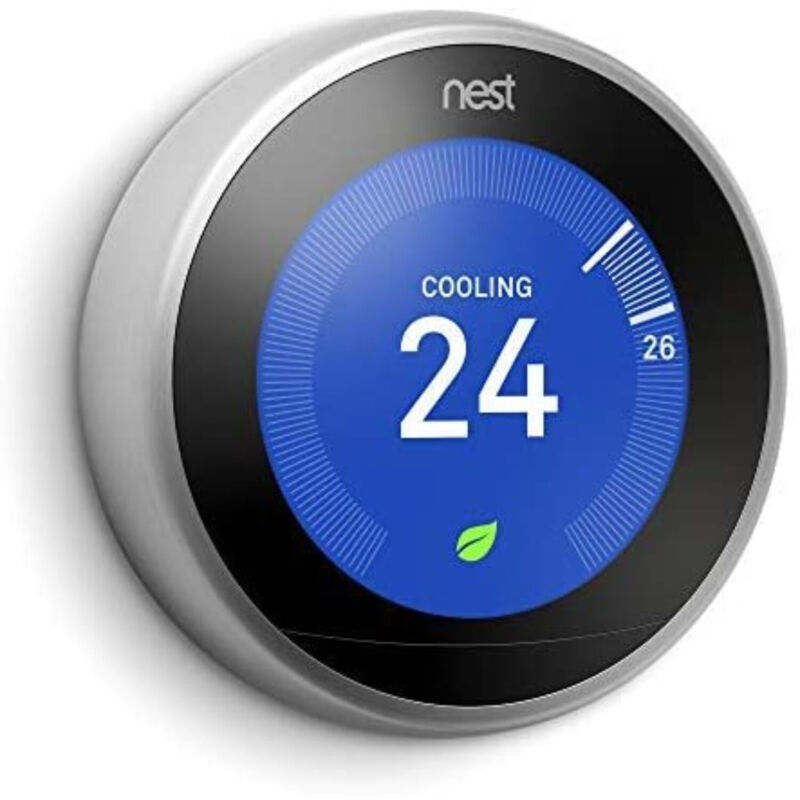 Google Nest Learning Thermostat 3rd Generation T3007ES Stainless Steel Brand New