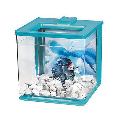 Marina 0.7 Gallon Betta EZ Care Aquarium Kit, Blue