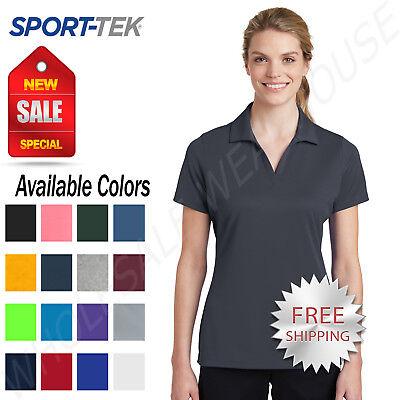 Sport Tek Womens 100% Polyester Dri-Fit Performance Polo  Golf Shirt (Lst Shirt)